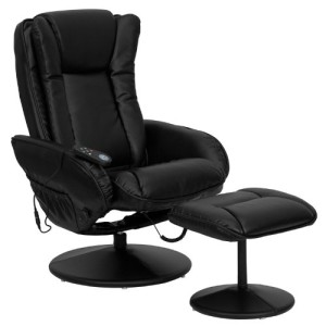 Flash Furniture Leather Massaging Recliner for Back Pain