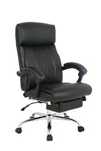 VIVA OFFICE Reclining Office Chair, High Back Bonded Leather Chair with Footrest