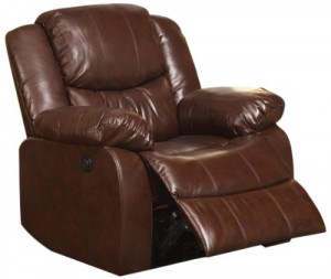 Acme 50202 Fullerton Power Motion Bonded Leather Recliner, Brown